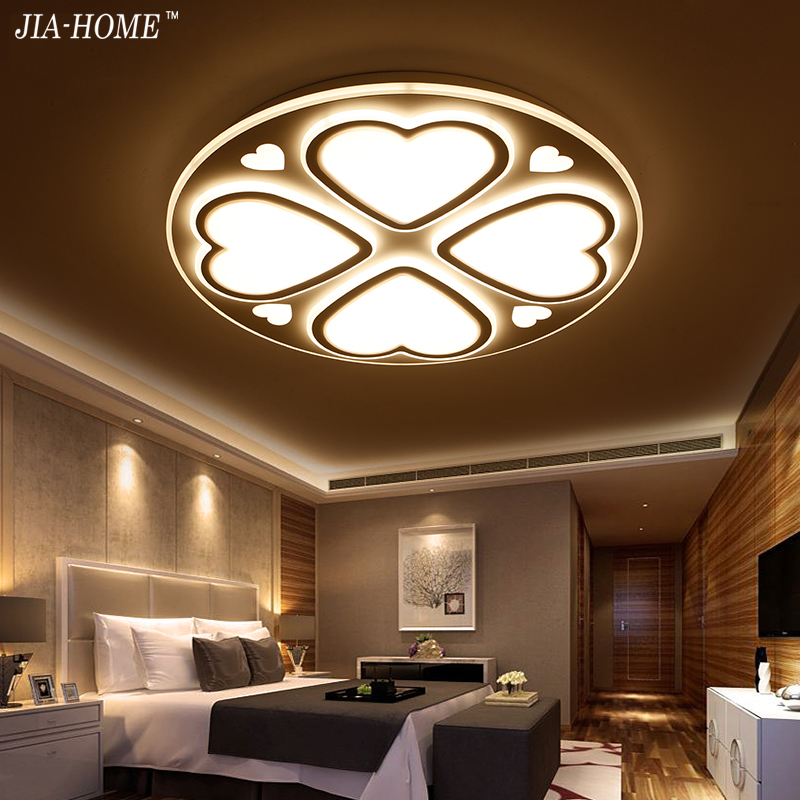 bedroom sweetheart Led ceiling mount light fixtures dome with Acrylic dimmer or switch Ceiling Lamp De Techo Plafond Abajur noosion modern led ceiling lamp for bedroom room black and white color with crystal plafon techo iluminacion lustre de plafond