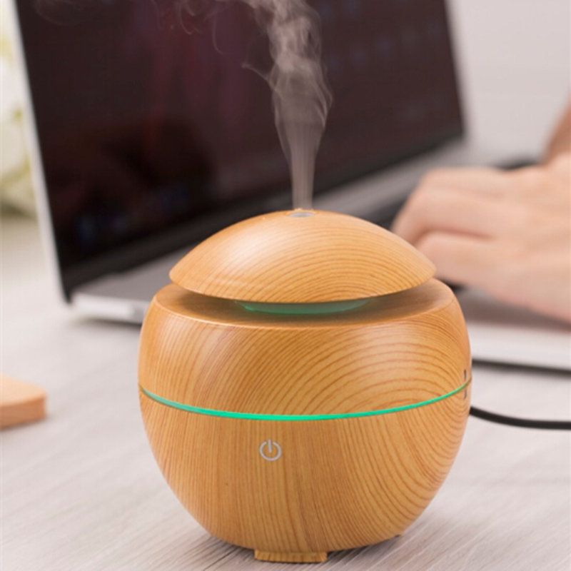 DEVISIB USB Aroma Essential Oil Diffuser Ultrasonic Cool Mist Humidifier Air Purifier 7 Color Change LED Night Light