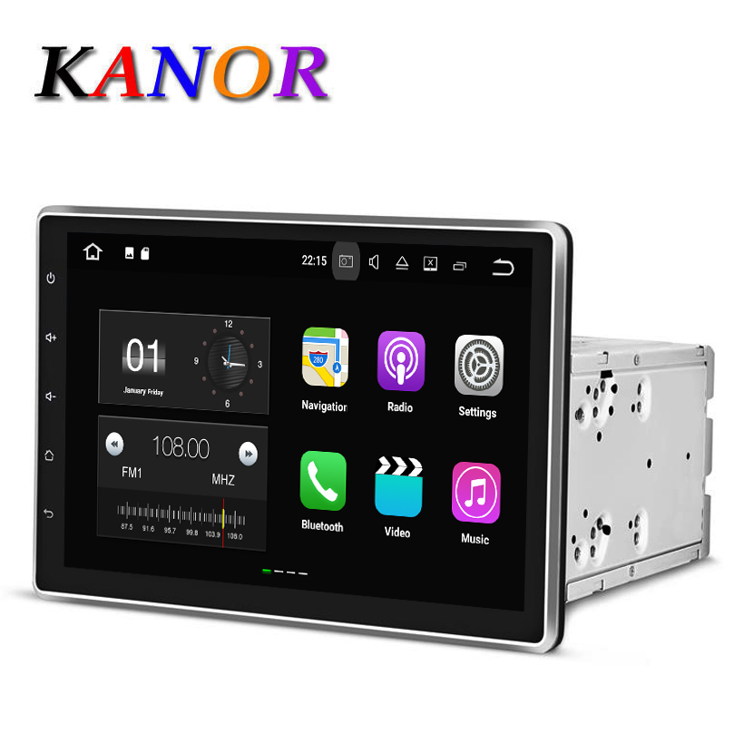 10 1inch 1024 600 Quad Core Android 4 44 2 Din Universal Car DVD Player Capacitive