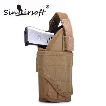 SINAIRSOFT Tactical Pistol Right handed Holster Utility Adjustable Airsoft Hunting Pouch Tornado multiple MOLLE Vertical
