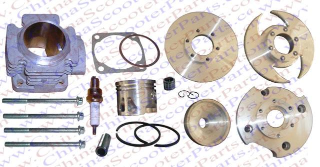 Performance 44MM 12MM Cylinder Head Piston Ring Kit (Big Bore Kit) for 47CC 49CC Mini Dirt Pit Bike PartsPerformance 44MM 12MM Cylinder Head Piston Ring Kit (Big Bore Kit) for 47CC 49CC Mini Dirt Pit Bike Parts