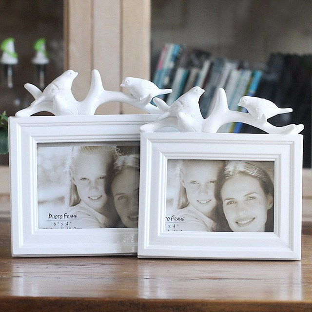 6inch Resin Birds Wedding Photo Frame Arts White Picture Frames Home ...