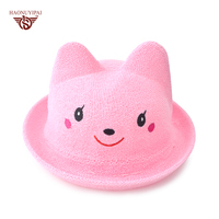 Girl's Cute Smile Straw Hat Casual Loop Yarns Sun Hat For Girls Character Casquette Girl Visor Gorras For Beach And Travelling