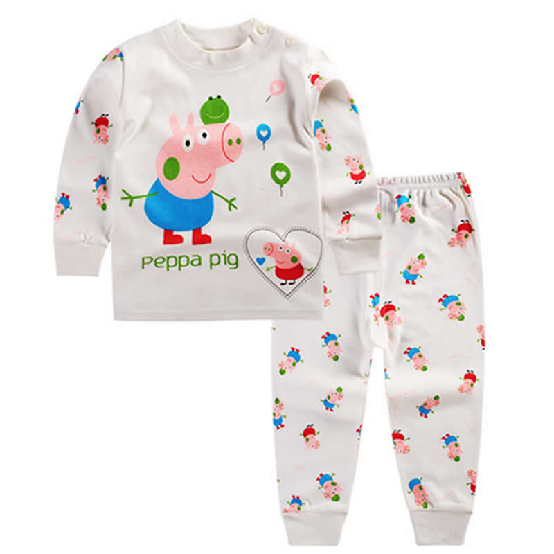 2016 New Infant Girl Clothes Boys Pajama Sleep Coats Set Baby Girl Cute Pajamas Suit Newborn Baby Girl Soft Cotton Underwear