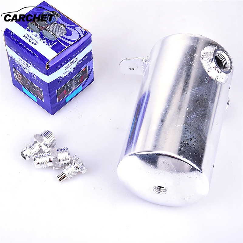 все цены на CARCHET 500ml Aluminum Car Racing Engine Oil Catch Can Reservoir Breather Tank Silver red Oil Catch Can Reservoir Breather Tank