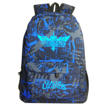 New 2017 Fashion Legends Bag LOL Game Luminous Backpack Man Backpack Rucksack School Bags For Teenage Boys Mochila Masculina