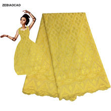 ZEBIAOCAO 2019 Wholesales New Arrival Lace Fabric For Wedding/Party Dress,African Mesh Fabric,