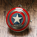 Free Shipping The Avengers New Marvel Super Hero Captain America Shield Action Figure Pocket Watch Necklace Gift