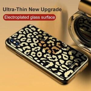 Image 2 - OTAO nouveau étui pour iphone 7 8 Plus 6 6 S étui pour iphone X XS MAX XR en verre plaqué léopard