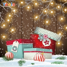 Yeele Christmas Party Photocall Decor Lights Gifts Photography Backdrops Personalized Photographic Backgrounds For Photo Studio