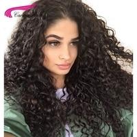 Карина бразильский Волосы Remy 360 Синтетический Frontal шнурка волос Парики для вечеринок натуральный Цвет странный вьющиеся Искусственные пари