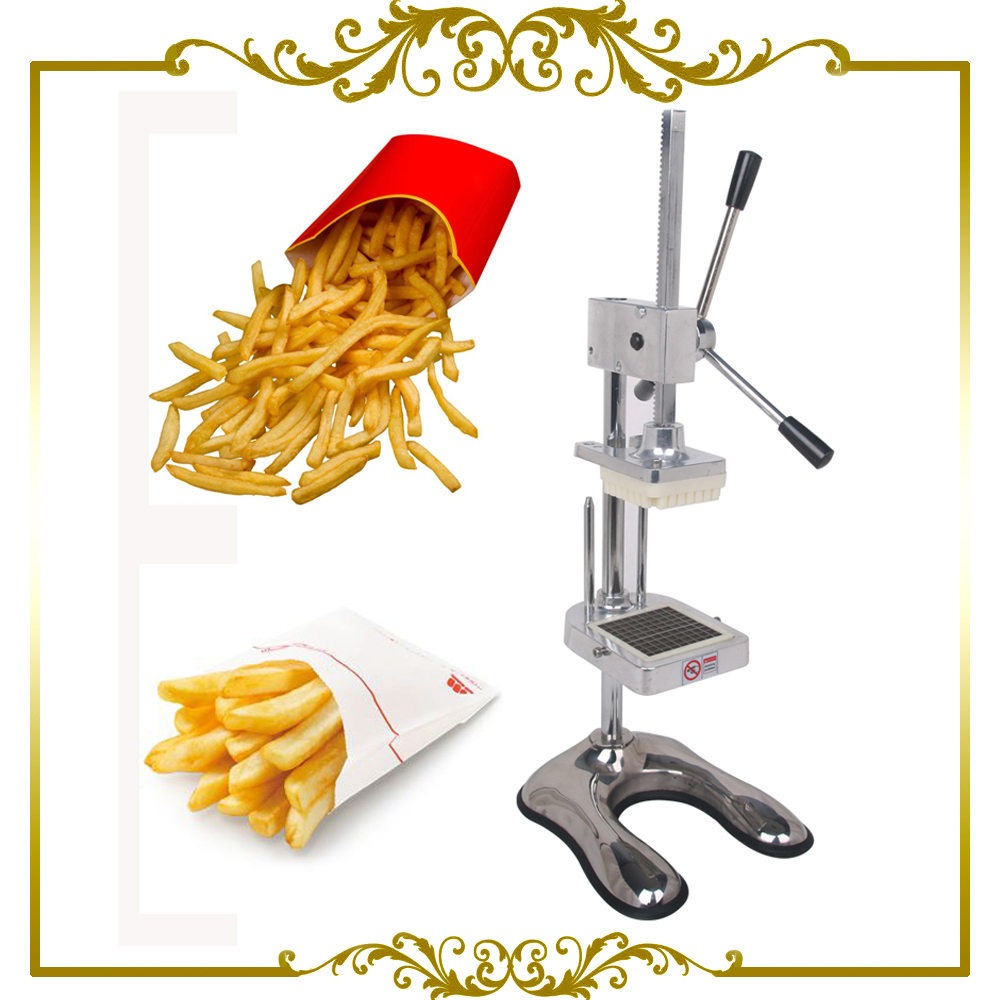 French Fry Potato Chip Cut Cutter Vegetable Fruit Slicer Manual Kitchen Equipment Commercial Machine new stainless steel cutter cut cucumber banana fruit slicer kitchen tools tool