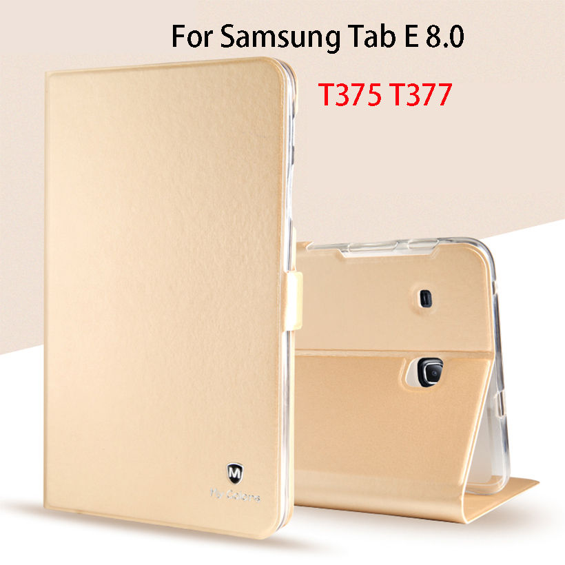 Luxury Silicone Leather Case For Samsung Galaxy Tab E 8.0 T377 T377V SM-T377 T375 Case Cover for Galaxy TabE T377 Funda Tablet ...