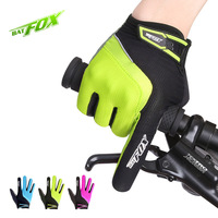 BATFOX Sport Radfahren Handschuhe Vollfinger Polyester Nylon Bike Handschuhe Anti-shock Anti-schweiß MTB Handschuhe Outdoor Fahrrad handschuhe