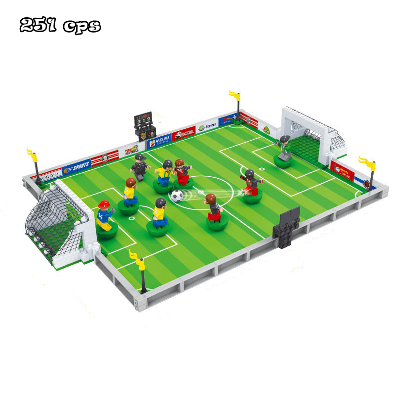 Model building kits compatible with lego city football series 200 3D blocks Educational  ...