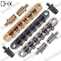 QHX A Set 3 Color 12 Strings Saddle Bridge For Electric Guitar Chrome Black Gold guitar accessories parts Musical instruments