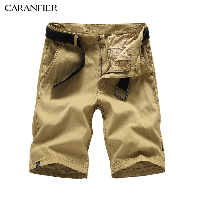 CARANFIER 2018 Cargo Shorts Men Summer Top Design solid Casual Straight pocket Shorts Homme Cotton Fashion Brand shorts men