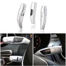 Palanca de cambios cromada para Mercedes Benz GLC C E CLA GLA Class W205 W213 3 unids/set, cubiertas de lentejuelas de crucero, ribete adhesivo para marco