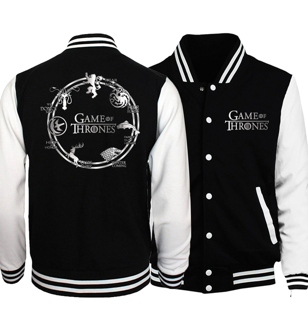"""Team Targaryen Fire Blood"" Baseball Jackets  3"