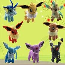 Hot Anime Vaporeon Eevee Plush Toys 12-21cm Kawaii Eevee Genius Soft Stuffed Animals Doll for Kids Toys Children Birthday Gift