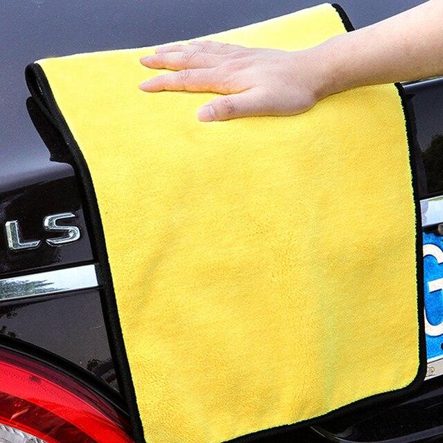 Absorvente Super da Lavagem Do Carro Toalha de Microfibra de Limpeza Do Carro Detalhamento Toalha de Pano De Secagem Grande Bainha Car Care Pano 30*30