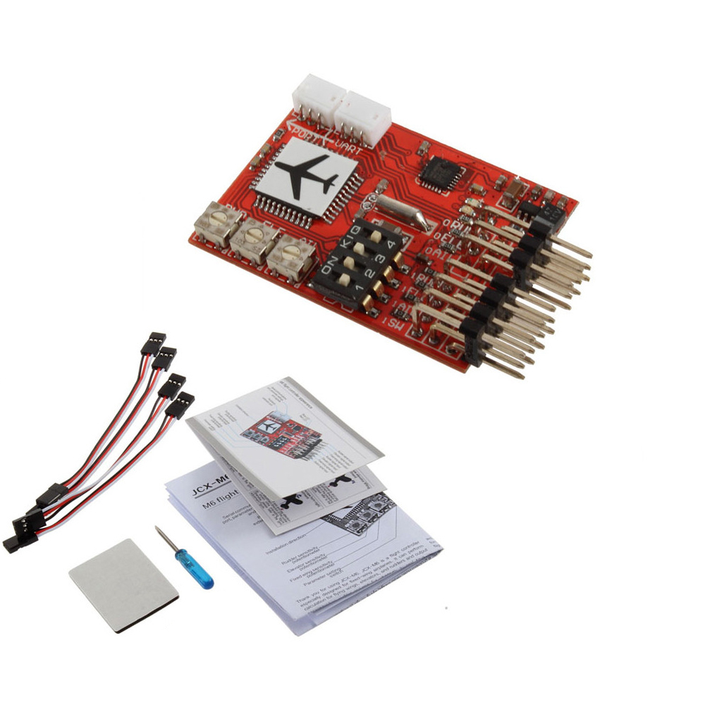 1pcs JCX-M6 M6 Flight Controller (Digital gyro) for RC Fixed-wing Airplane V-tail Model Plane FPV Wholdesal