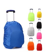 Empty Trolley School Bags Backpack Bag waterproof cover girls boys wheel Children Trave bag dust rain proof only cover 2pcs(China)