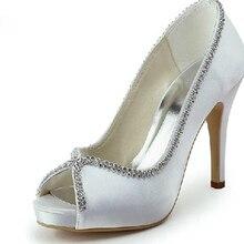 Lady Sexy Peep Toe Spring Summer Shoes Rhinestone Wedding Shoes Simple Graceful Bridal Shoes Bridesmaid Shoes