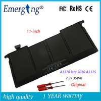 7.3v 35Wh New Original A1375 Laptop Battery for APPLE macbook Air A1370 late 2010 11Inch Whit tools