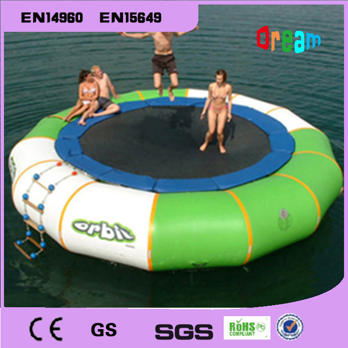 Free Shipping Dia 3m 0.9mm Inflatable Water Trampoline Water Jumping Bed Jumping Trampoline(free 1 blower) купить недорого в Москве