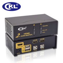 CKL 2 Port USB HDMI KVM Switch PC Monitor Keyboard Mouse 2 in 1 out Switcher Support Auto Scan 1080P 3D (CKL-92H)