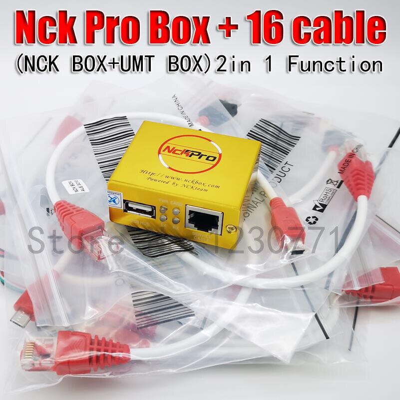 100% Original NCK PRO BOX NCK Pro 2 box (support NCK + UMT 2 en 1) nouvelle mise à jour pour Huawei + 16 câbles + livraison gratuite