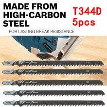 5 шт. 152 мм T344D сверхдлинные пильные диски для очистки дерева, ПВХ, древесно-волокнистого картона, пластиковая фанера, возвратно-поступательный HCS t-хвостовик электроинструмента