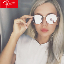 Psacss Retro Metal Round Sunglasses For Men Women Vintage Rainbow Color Luxury Brand Designer Sun Glasses oculos de sol feminino
