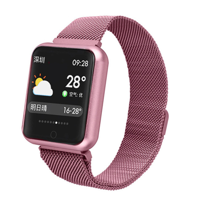 Smart Watch P68 Sports IP68 fitness bracelet activity tracker heart rate monitor blood pressure for ios Android apple iPhone 6 7 1