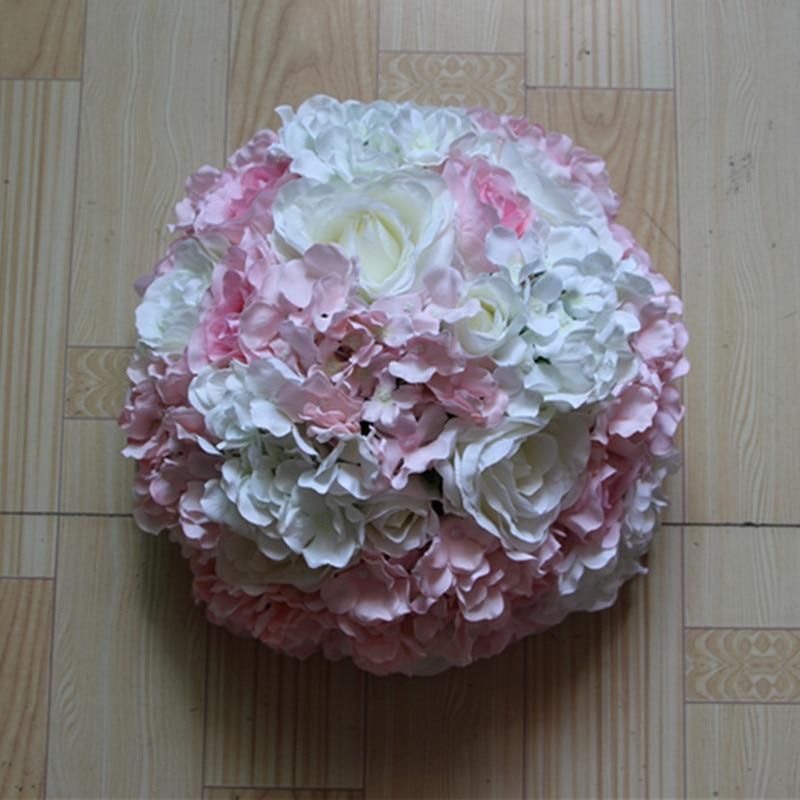 Ivory Flower Ball: Hanging Flower Ball Centerpieces Silk Rose Wedding Kissing