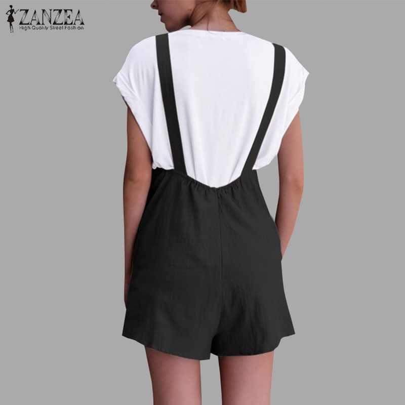 04856ec0ec ... 2018 ZANZEA Womens Casual Jumpsuit Vinage Overalls Female Summer  Palazzo Pants Ladies Short Rompers Plus Size ...