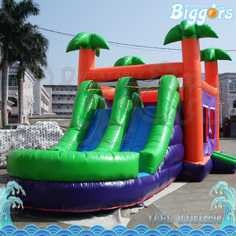 Tropical Inflatable Bounce House PVC Tarpaulin Material Bouncy Castle With Slide And Ball Pool Inflatbale Bouncy Castle tropical inflatable bounce house pvc tarpaulin material bouncy castle with slide and ball pool inflatbale bouncy castle