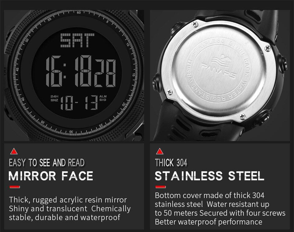 Sports Electronic Watches Men Countdown Double Time Watch Alarm Chrono Digital Wristwatches 50M Waterproof Outdoor Running Watch (11)