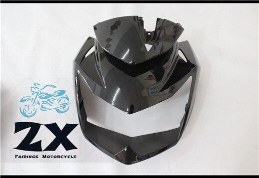Motocicleta ABS Carenagens de Injecção Para Cabeça Superior Frontal Da Carenagem Cowl Nose Cowl Para kawasaki Z750 Z-750 2007-2012 zxmt bom 125