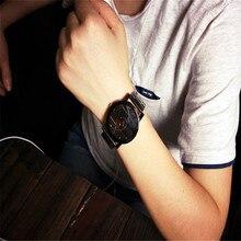 Moda Homem de Aço Inoxidável Relógio de Quartzo Analógico Relógio de Pulso relógios de Alta qualidade 0717