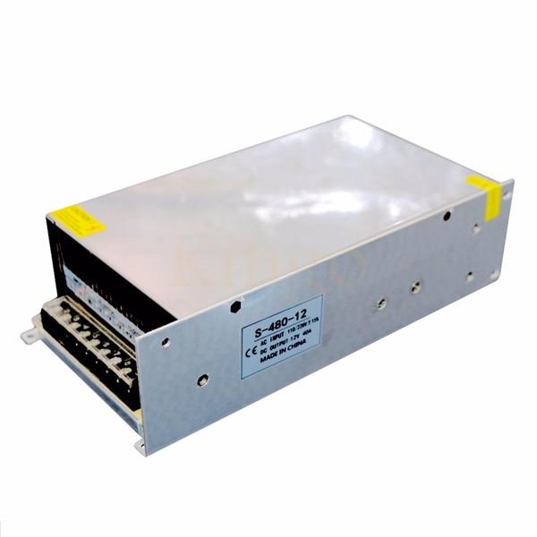 AC 110V 220V to DC 12V 40A 480W Switch Power Supply Driver 12V 40A 480W Switching Power Supply Driver for LED Strip Light