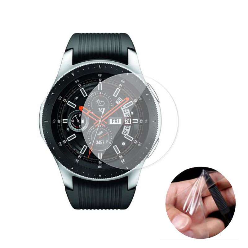3pc Soft Clear Protective Film Guard For Samsung Galaxy Watch 42MM 46MM Sport Smartwatch Full Screen Protector Cover (Not Glass)
