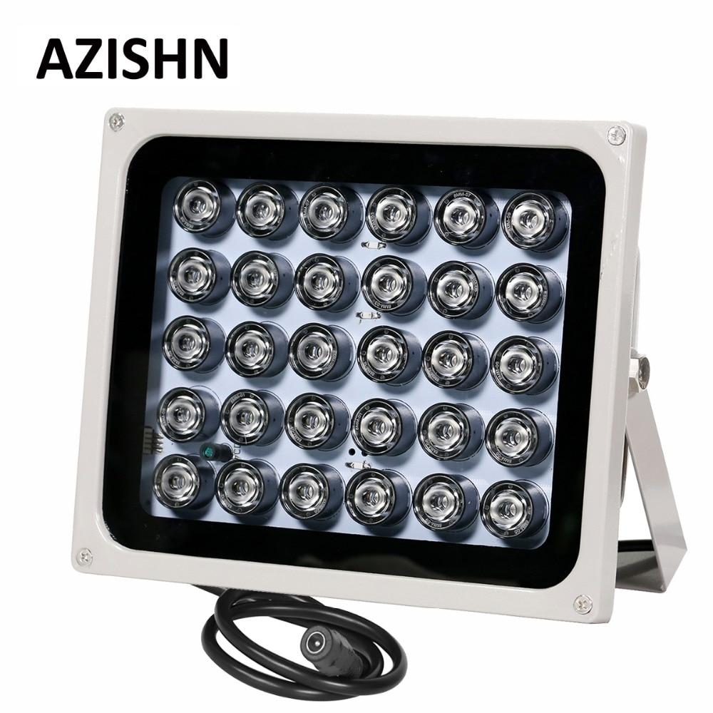 AZISHN CCTV LEDS 30 IR illuminateur infrarouge vision nocturne 850nm IP65 métal extérieur CCTV lumière de remplissage pour caméra de surveillance CCTV