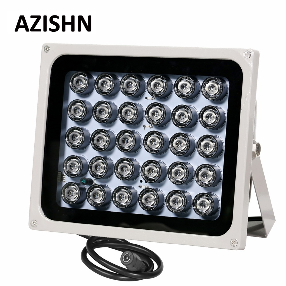 AZISHN NEW CCTV LEDS 30pcs IR Infrared Illuminator night vision 850nm IP65 metal Waterproof outdoor For CCTV surveillance camera azishn cctv 12pcs array leds ir illuminator infrared outdoor waterproof night vision cctv fill light for cctv security camera