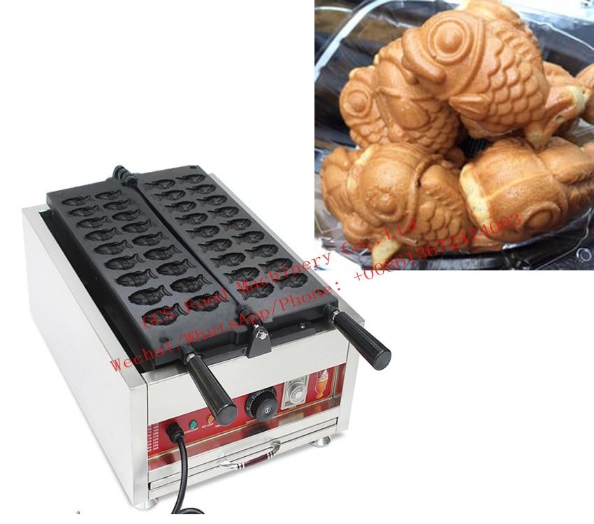 Free shipping Electric 18 pcs/plate Mini Taiyaki Maker Machine Goldfish Waffle Maker free shipping 6 pcs dounts making machine with recipe waffle grill