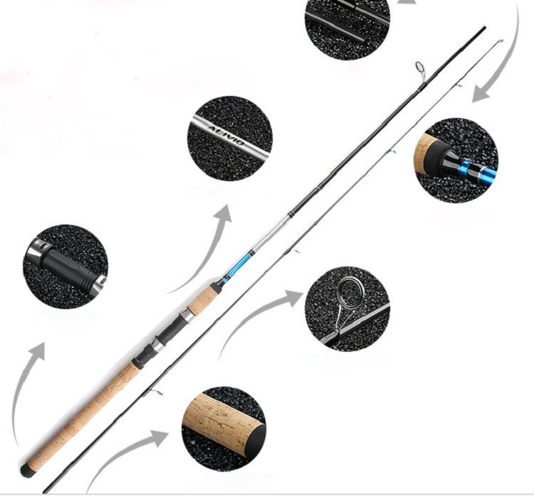 UCOK 1pcs/pack cheap 1.8M/2.1M/2.4M/2.7M spinning/casting lure rod 30T carbon powerful action fresh water sea bass salmon rod akg pae5 m