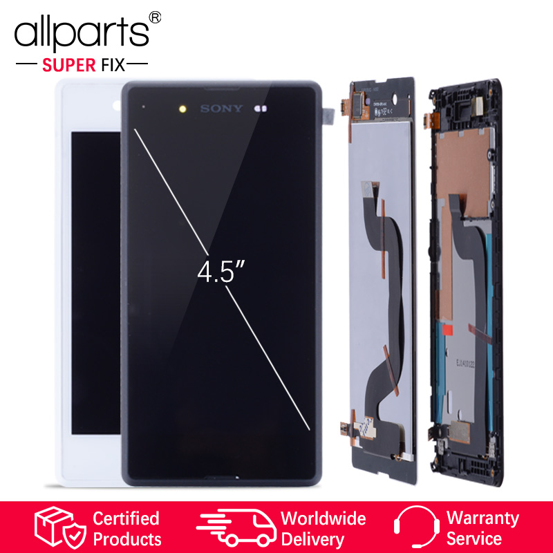 4,5 ''Original Display Für SONY Xpeira E3 LCD Touch Screen Digitizer Mit Rahmen Für SONY Xperia E3 Display LCD d2203 D2243