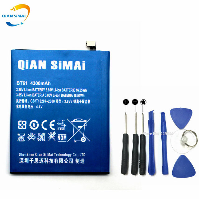 QiAN SiMAi New 4300mAh BT61 battery & Repair Tools Replacement for Meizu M3 Note M3Note Phone Free Shipping + track number
