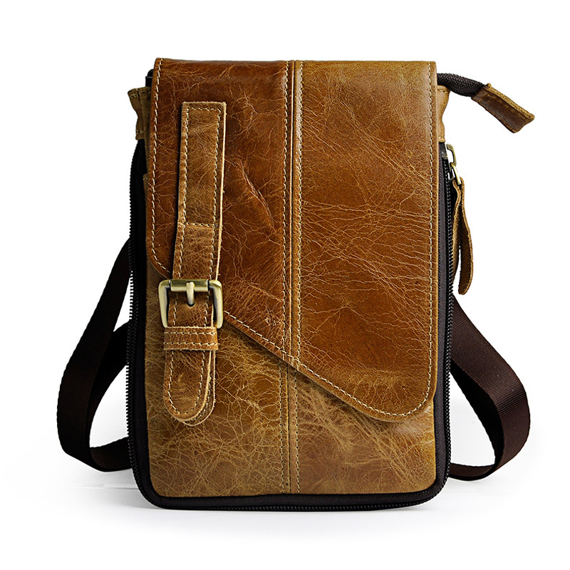 Vintage Genuine Natural Leather Casual Multi funciton Bag Men s Mini Shoulder Bag Messenger Bag Waist